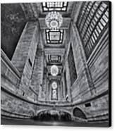 Grand Central Corridor Bw Canvas Print