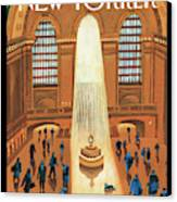 Grand Central Heating Canvas Print by Mark Ulriksen