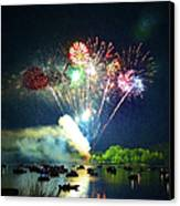 Grand Finale Over The Lake Canvas Print