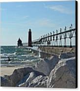 Grand Haven Lighthouse Canvas Print by Jennifer  King