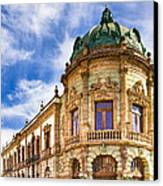 Grand Old Theater In The Heart Of Oaxaca Canvas Print by Mark E Tisdale