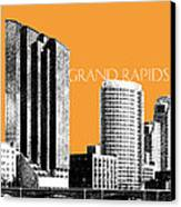 Grand Rapids Skyline - Orange Canvas Print