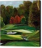 Grandeur Of The Green Canvas Print by Claudia Herrick
