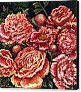 Grandma Lights Peonies Canvas Print
