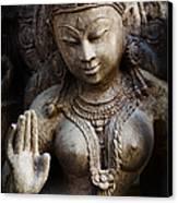 Granite Indian Goddess Canvas Print by Tim Gainey