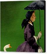 Granny Gets A Goose... Canvas Print by Will Bullas