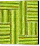 Grassy Green Stripes Canvas Print