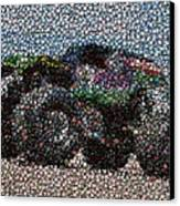Grave Digger Bottle Cap Mosaic Canvas Print by Paul Van Scott
