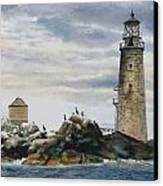Graves Light House Canvas Print by Karol Wyckoff