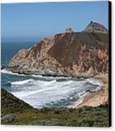 Gray Whale Cove State Beach Montara California 5d22618 Canvas Print by Wingsdomain Art and Photography