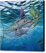 Great Blue And Mahi Mahi Underwater Canvas Print