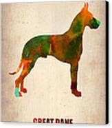 Great Dane Poster Canvas Print by Naxart Studio