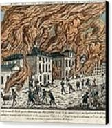 Great Fire Of New York, 1776 Canvas Print by Science Photo Library
