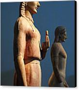Greek Sculpture Athens 1 Canvas Print by Bob Christopher