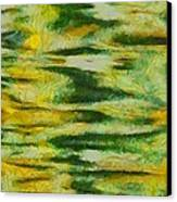 Green And Yellow Abstract Canvas Print