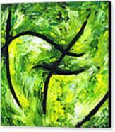 Green Apple Canvas Print by Kamil Swiatek
