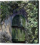 Green Door Canvas Print by Terry Reynoldson