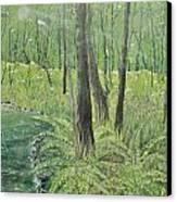 Green Fern Canvas Print by Leo Gehrtz