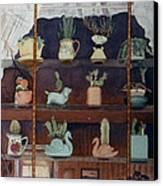 Green House Window Canvas Print