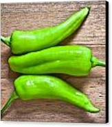 Green Jalapeno Peppers Canvas Print