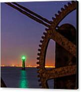 Green Lighthouse Canvas Print