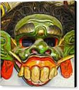 Green Mask Canvas Print by Gregory Dyer