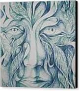 Green Canvas Print by Moshfegh Rakhsha