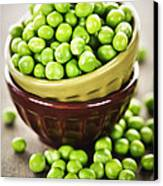 Green Peas Canvas Print