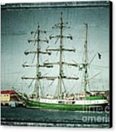 Green Sail Canvas Print