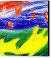 Green Sean Turtles Canvas Print