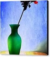 Green Vase 2 Canvas Print by Donald Davis