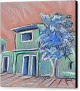 Green Village Canvas Print by Marcia Meade