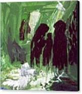 Green Water Rite Canvas Print