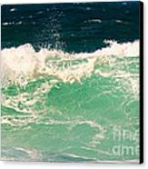 Green Wave Pacific Grove Ca  Canvas Print by Artist and Photographer Laura Wrede