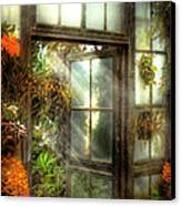 Greenhouse - The Door To Paradise Canvas Print by Mike Savad