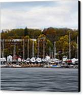 Greenwich Harbor Canvas Print by Lourry Legarde