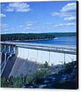 Greers Ferry Dam Canvas Print by Edward Hamilton