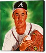 Greg Maddux Canvas Print by Dick Bobnick