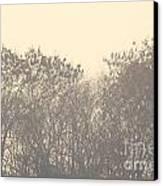 Grey Canvas Print by Vishakha Bhagat