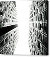 Grids Lines And Glass Structure - Google London Offices Canvas Print