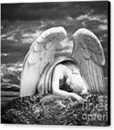 Grieving Angel Canvas Print by Olga Zamora