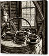Grist Mill Canvas Print by Donnie Bagwell