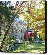 Grist Mill In Fall Canvas Print