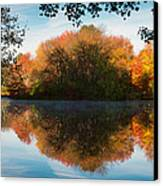 Grist Millpond Framed Canvas Print by Michael Blanchette