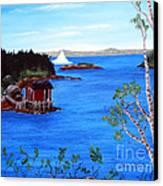 Grounded Iceberg Canvas Print