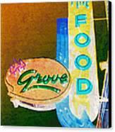Grove Fine Food Var 3 Canvas Print by Gail Lawnicki
