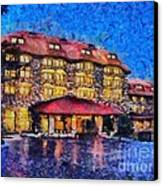 Grove Park Inn Canvas Print by Elizabeth Coats