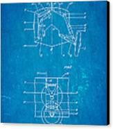 Grumman Retractable Landing Gear Patent Art 1932 Blueprint Canvas Print by Ian Monk