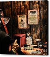Guarding The Payroll Canvas Print by Olivier Le Queinec