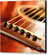 Guitar Bridge Canvas Print by Elena Elisseeva